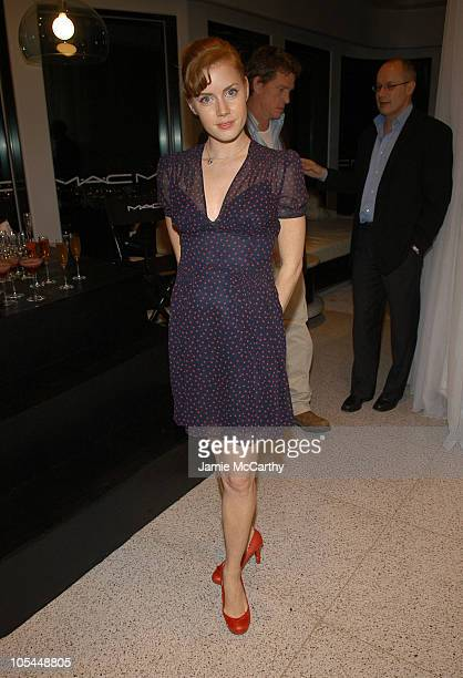 Amy Adams during MAC Cosmetics Hosts Dinner Honoring Debra Messing and Thomas Haden Church at Soho House in Los Angeles California United States