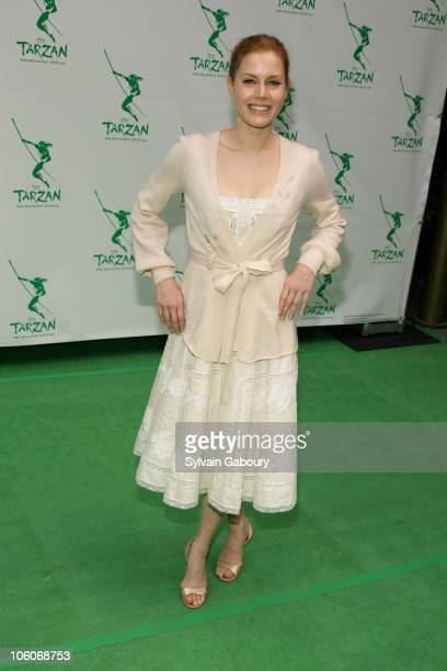 Amy Adams during Opening Night of 'Tarzan' Arrivals at Richard Rodgers Theater in New York NY United States