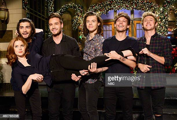 LIVE Amy Adams Episode 1672 Pictured Amy Adams and One Direction members Zayn Malik Liam Payne Harry Styles Louis Tomlinson and Niall Horan on...