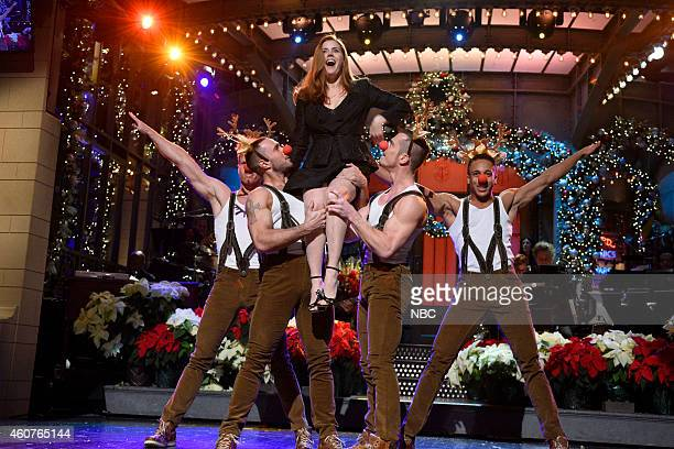 LIVE Amy Adams Episode 1672 Pictured Amy Adams during the Christmas Monologue on December 20 2014
