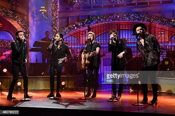 LIVE Amy Adams Episode 1672 Pictured Liam Payne Zayn Malik Niall Horan Louis Tomlinson and Harry Styles of musical guest One Direction perform on...