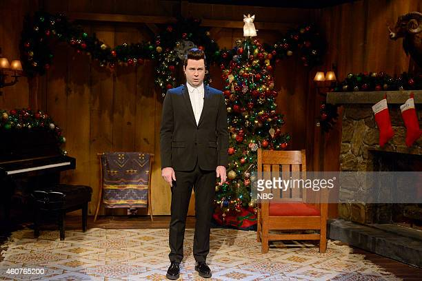 LIVE 'Amy Adams' Episode 1672 Pictured Taran Killam as Sam Smith during the 'Sam Smith / Dr Evil Cold Open' skit on December 20 2014