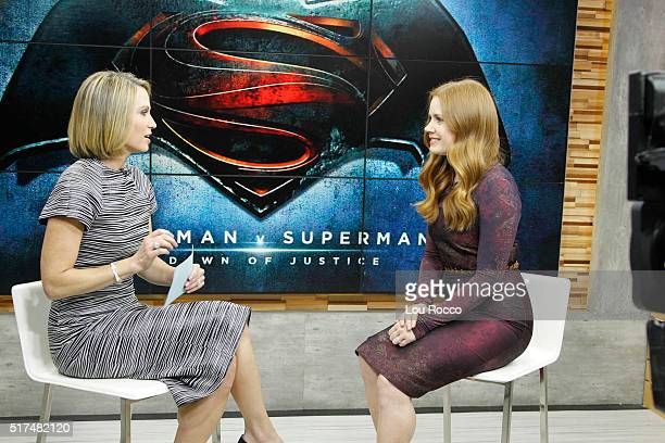 AMERICA Amy Adams is a guest on GOOD MORNING AMERICA 3/25/16 airing on the ABC Television Network AMY