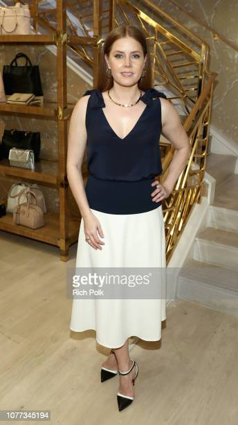 Amy Adams is honored at an intimate dinner hosted by Tory Burch and Clase Azul at Tory Burch on January 4 2019 in Beverly Hills California