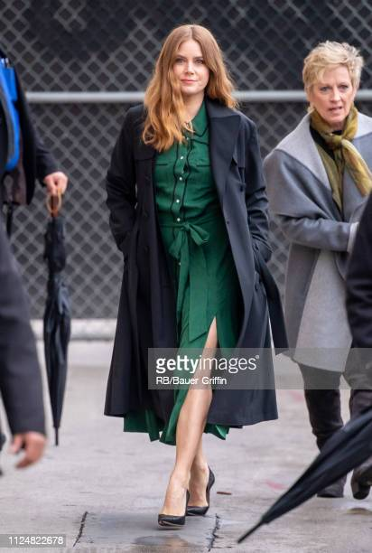 Amy Adams is seen at 'Jimmy Kimmel Live' on February 13 2019 in Los Angeles California