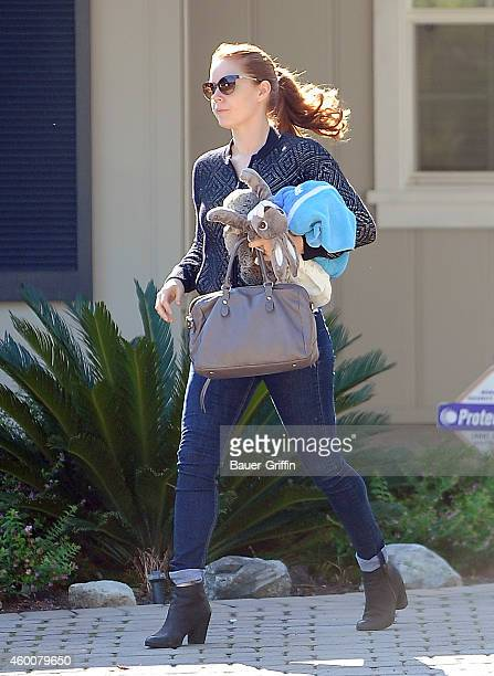 Amy Adams is seen in Studio City on December 06 2014 in Los Angeles California