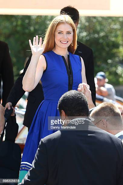 Amy Adams is seen leaving the Hotel Excelsior on the Lido during the 73rd Venice Film Festival on September 1 2016 in Venice Italy