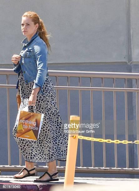 Amy Adams is seen on August 08 2017 in Los Angeles California