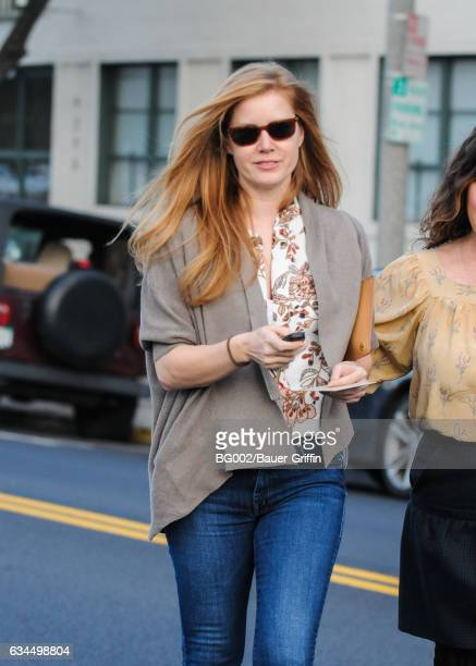Amy Adams is seen on February 09 2017 in Los Angeles California