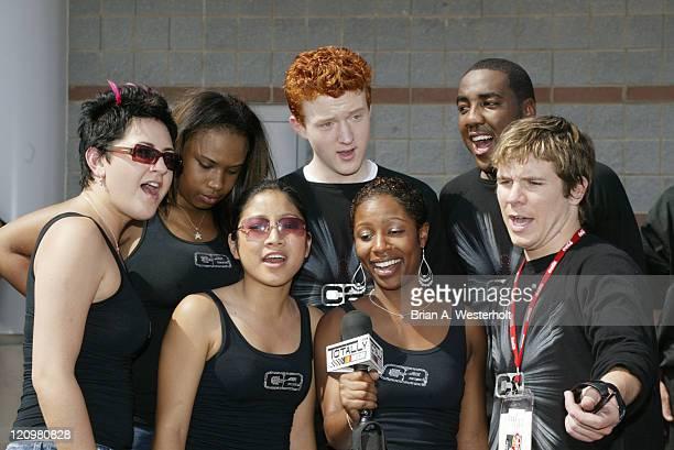 Amy Adams Jennifer Hudson John Stevens George Huff Jasmine Trias La Toya London and Jon Peter Lewis from American Idol sing for Totally NASCAR during...