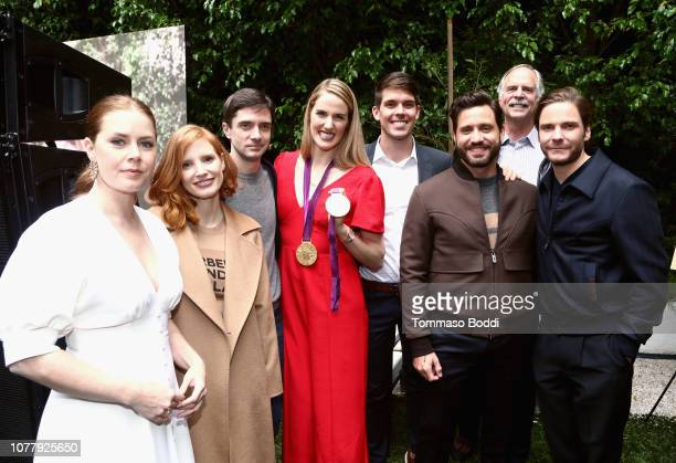 Amy Adams Jessica Chastain Topher Grace Missy Franklin guest Edgar Ramirez guest and Daniel Bruhl celebrate the 6th annual Gold Meets Golden with...
