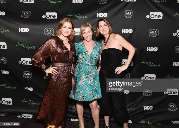 Amy Adams Marti Noxon and Gillian Flynn attend the Sharp Objects After Party presented by HBO at the ATX Television Festival in Austin TX on Saturday...