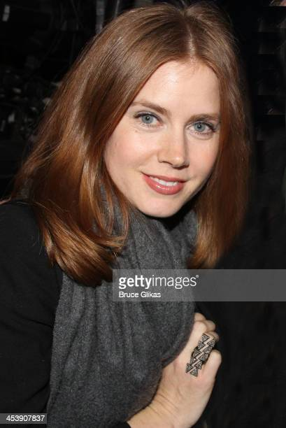 Amy Adams poses backstage at 'First Date' on Broadway at The Longacre Theater on December 5 2013 in New York City