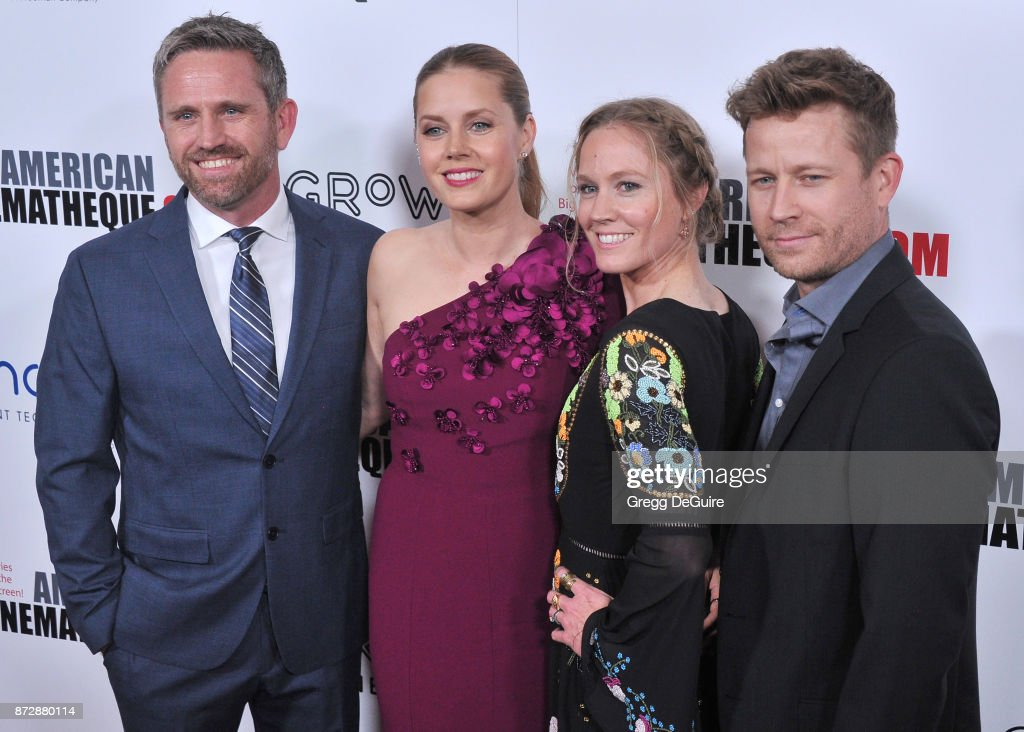 Amy Adams, sister Anna and brothers arrive at the 31st Annual American Cinematheque Awards Gala at The Beverly Hilton Hotel on November 10, 2017 in Beverly Hills, California.