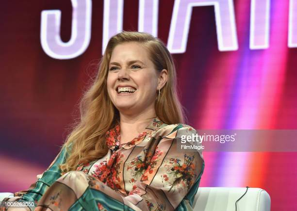 Amy Adams speaks onstage at HBO Summer TCA 2018 at The Beverly Hilton Hotel on July 25 2018 in Beverly Hills California