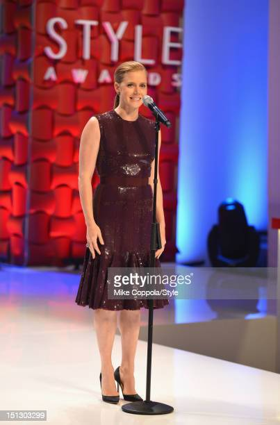 Amy Adams speaks onstage during the 9th Annual Style Awards at Lincoln Center on September 5 2012 in New York City Tune in to The 9th Annual Style...