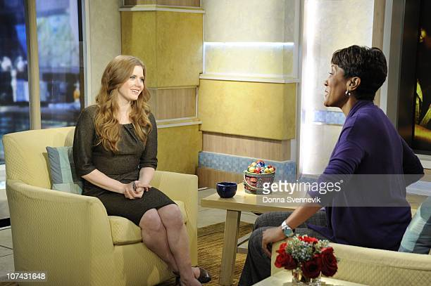 AMERICA Amy Adams talks about her role in the new film The Fighter on Good Morning America 12/8/10 airing on the Walt Disney Television via Getty...