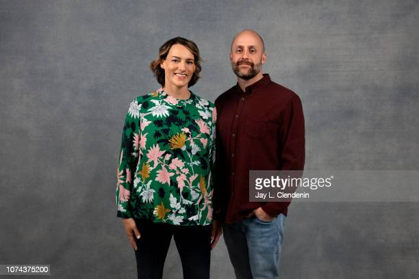 Amy Adrion and David Harris from Half the Picture are photographed for Los Angeles Times on January 23 2018 in the LA Times Studio at Chase Sapphire...