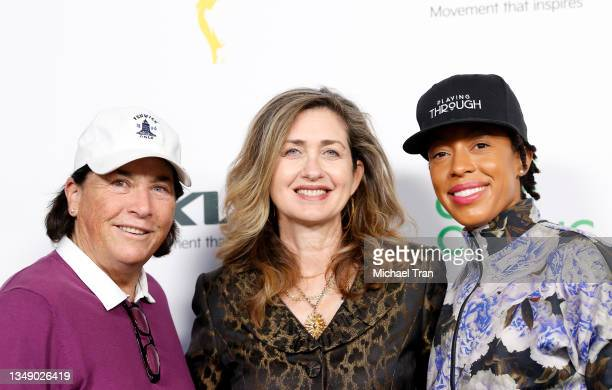 Amy Alcott, Executive Director of the Television Academy Foundation, Jodi Delaney and Andia Winslow attend the 21st Annual Emmys Golf Classic...