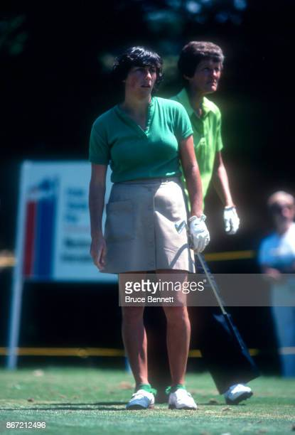 Amy Alcott of the United States follows her shot during the 1980 WUI Classic on July 27 1980 at Meadow Brook Club in Jericho New York