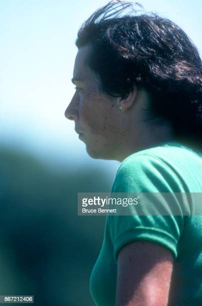 Amy Alcott of the United States looks on during the 1980 WUI Classic on July 27 1980 at Meadow Brook Club in Jericho New York