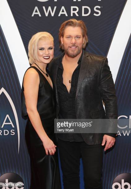 Amy Alderson and singer James Otto attend the 52nd annual CMA Awards at the Bridgestone Arena on November 14 2018 in Nashville Tennessee