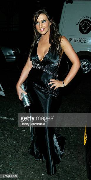 Amy Alexandra attends The Television X Party at the Emabassy Club on November 15 2007 in London England