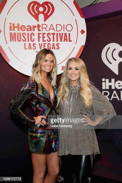 Amy and Carrie Underwood attend the 2018 iHeartRadio Music Festival at TMobile Arena on September 22 2018 in Las Vegas Nevada