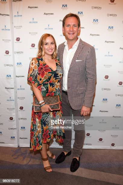 Amy and James Dodds attend Joe Carter Classic After Party at Ritz Carlton on June 21 2018 in Toronto Canada