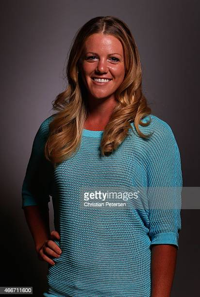 Amy Anderson poses for a portrait ahead of the LPGA Founders Cup at Wildfire Golf Club on March 17 2015 in Phoenix Arizona