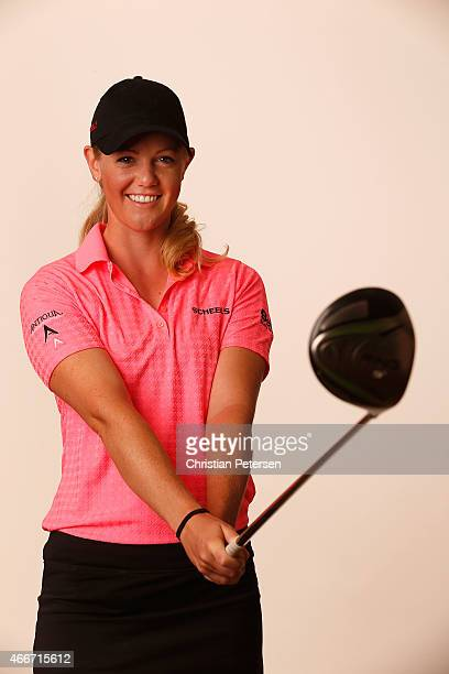 Amy Anderson poses for a portrait ahead of the LPGA Founders Cup at Wildfire Golf Club on March 18 2015 in Phoenix Arizona