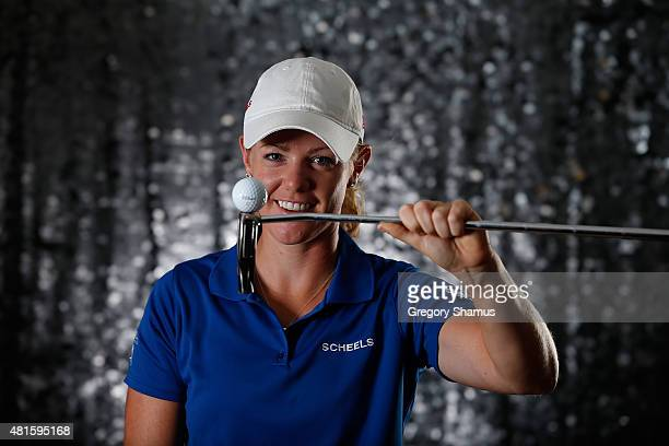 Amy Anderson poses for a portrait prior to the Meijer LPGA Classic presented by Kraft at Blythefield Country Club on July 22 2015 in Grand Rapids...