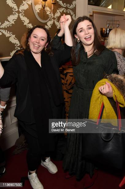 Amy Annette and Aisling Bea attend a special performance of 'Emilia' celebrating trailblazing women at Vaudeville Theatre on March 19 2019 in London...