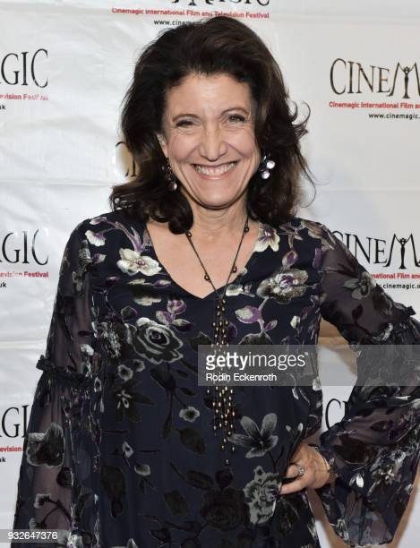 Amy Aquino attends the Cinemagic Annual Gala at The Fairmont Miramar Hotel Bungalows on March 15 2018 in Santa Monica California