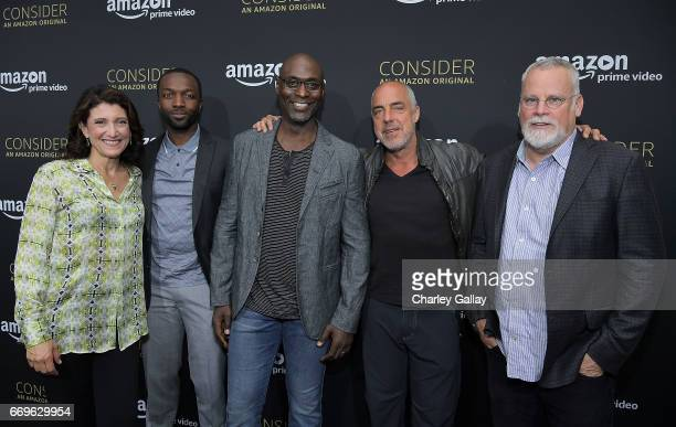 Amy Aquino Jamie Hector Lance Reddick Titus Welliver and authorproducer Michael Connelly attend Amazon Studios Holds A Preview Night For Its Emmy FYC...