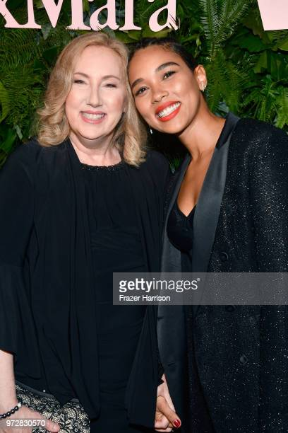 Amy Armstrong and Alexandra Shipp attend the Max Mara Celebration for Alexandra Shipp 2018 Women In Film Max Mara Face Of The Future Award Recipient...