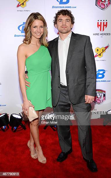 Amy Askren and her husband mixed martial artist Ben Askren arrive at the sixth annual Fighters Only World Mixed Martial Arts Awards at The Palazzo...