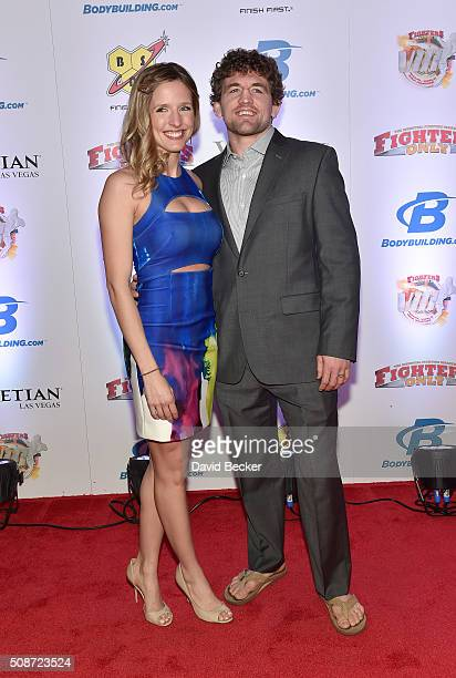 Amy Askren and her husband mixed martial artist Ben Askren arrive at the eighth annual Fighters Only World Mixed Martial Arts Awards at The Palazzo...
