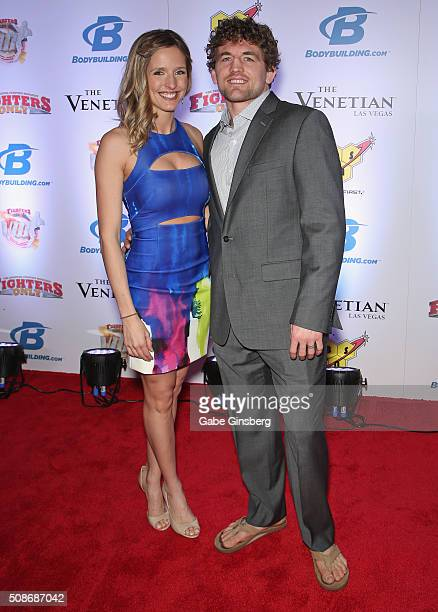 Amy Askren and her husband mixed martial artist Ben Askren attend the eighth annual Fighters Only World Mixed Martial Arts Awards at The Palazzo Las...