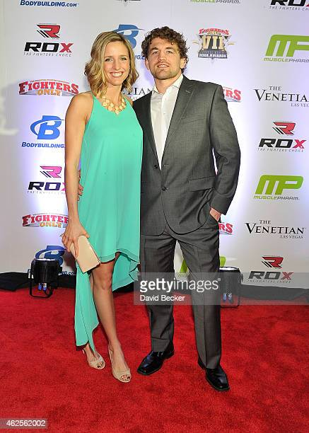 Amy Askren and her husband Olympic wrestler/mixed martial artist Ben Askren arrive at the seventh annual Fighters Only World Mixed Martial Arts...