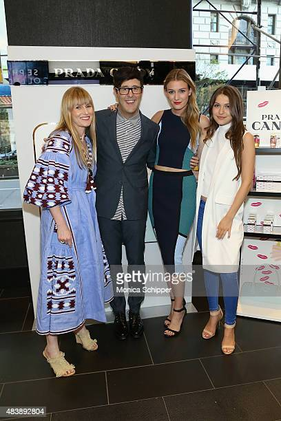 Amy Astley Andrew Bevan Leslie Kirchhoff and Elle Winter attend the Teen Vogue celebration of the Prada Candy Fragrance Collection at Sephora Union...