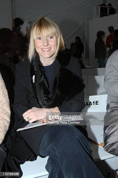 Amy Astley during Olympus Fashion Week Fall 2004 Jeffrey Chow Front Row at The Atelier at Bryant Park in New York City New York United States