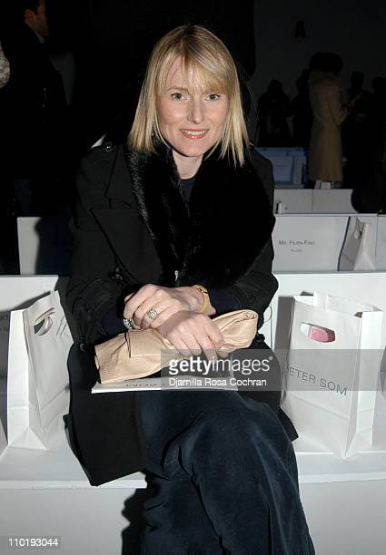 Amy Astley during Olympus Fashion Week Fall 2004 Peter Som Front Row at The Atelier at Bryant Park in New York City New York United States