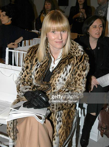 Amy Astley during Olympus Fashion Week Fall 2005 Derek Lam Front Row at Milk Studios in New York City New York United States