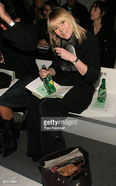 Amy Astley editor at Teen Vougue attends the Jeffrey Chow Fall 2005 fashion show during the Olympus Fashion Week at Bryant Park February 10 2005 in...
