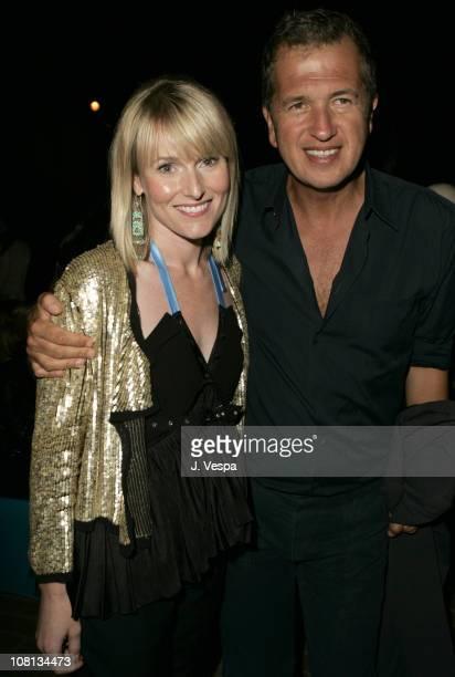 Amy Astley editorinchief of Teen Vogue and Mario Testino