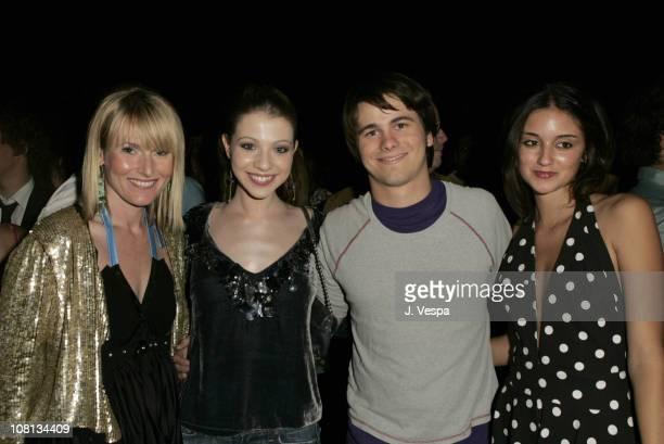 Amy Astley editorinchief of Teen Vogue Michelle Trachtenberg Jason Ritter and Caroline D'Amore