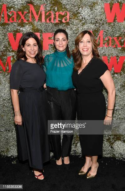 Amy Baer Max Mara VP US Retail Maria Giulia Maramotti and Executive Director of Women In Film Kirsten Schaffer attends the 2019 Women In Film Max...