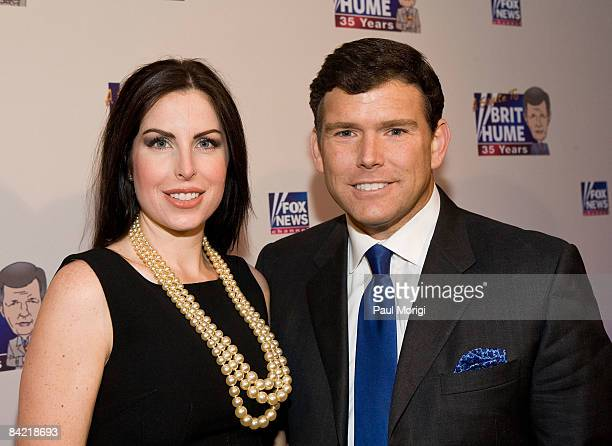 Amy Baier and Bret Baier attends salute to Brit Hume at Cafe Milano on January 8, 2009 in Washington, DC.