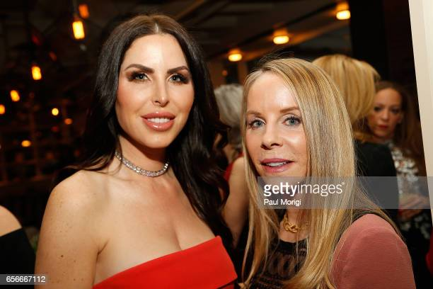 Amy Baier and Cindy Jones attend ELLE and Bottega Veneta Women in Washington dinner hosted by Robbie Myers ELLE EditorinChief at Fiola Mare on March...